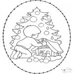Disegni da colorare Natale - Disegno da ricamare Natale 20