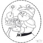 Disegni da colorare Natale - Disegno da ricamare Natale 22