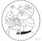 Disegno da ricamare Natale 22