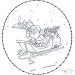 Disegni da colorare Natale - Disegno da ricamare Natale 5