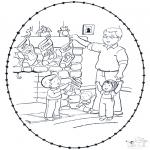 Disegni da colorare Natale - Disegno da ricamare Natale 8