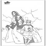 Disegni da colorare Vari temi - Donna e bambino