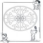 Disegni da colorare Mandala - Doppio mandala 12