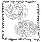 Disegni da colorare Mandala - Doppio mandala 2