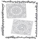 Disegni da colorare Mandala - Doppio mandala 3