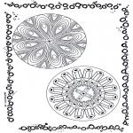 Disegni da colorare Mandala - Doppio mandala 5