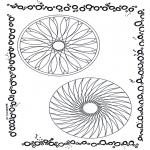 Disegni da colorare Mandala - Doppio mandala 7