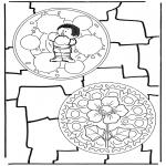 Disegni da colorare Mandala - Doppio mandala 8