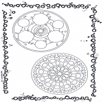 Disegni da colorare Mandala - Doppio mandala 9