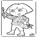 Disegni per i piccini - Dora 10