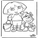 Disegni per i piccini - Dora 4