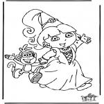 Disegni per i piccini - Dora 8