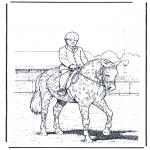Disegni da colorare Animali - Dressage