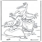 Disegni da colorare Animali - Due pellicani