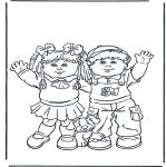 Disegni per i piccini - Due ragazzini