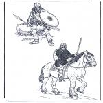 Disegni da colorare Vari temi - Due soldati