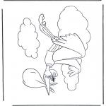 Disegni da colorare Temi - Dumbo cigogna