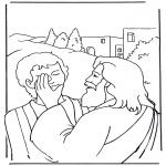 Disegni biblici da colorare - Efata, Gesù guarisce