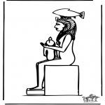 Disegni da colorare Vari temi - Egitto 3