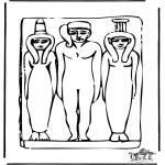 Disegni da colorare Vari temi - Egitto 4
