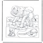 Disegni da colorare Animali - Elefante 1