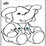 Disegni da colorare Animali - Elefante 10