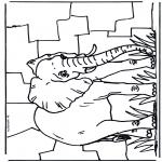 Disegni da colorare Animali - Elefante 2