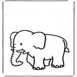 Disegni da colorare Animali - Elefante 3