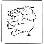 Disegni da colorare Animali - Elefante 4