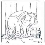 Disegni da colorare Animali - Elefante 5