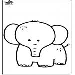 Disegni da colorare Animali - Elefante 7
