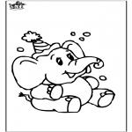 Disegni da colorare Animali - Elefante 8