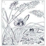 Disegni da colorare Vari temi - Elfi 1