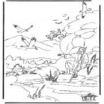 Disegni biblici da colorare - Elia e i corvi