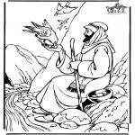 Disegni biblici da colorare - Elia