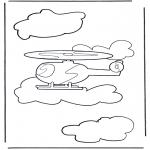 Disegni da colorare Vari temi - Elicottero 1