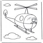 Disegni da colorare Vari temi - Elicottero 2