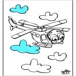 Disegni da colorare Vari temi - Elicottero 3