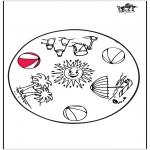 Disegni da colorare Mandala - Estate - Mandala