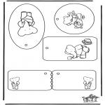 Lavori manuali - Etichetta per regali Babar
