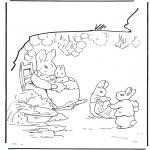 Disegni da colorare Vari temi - Famiglia di conigli