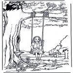 Disegni da colorare Vari temi - Fanciulla sullaltalena