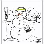 Disegni da colorare Inverno - Fantoccio di neve 2