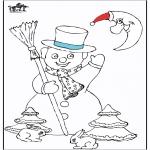 Disegni da colorare Inverno - Fantoccio di neve 5