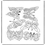 Disegni da colorare Animali - Farfalle 1