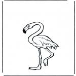 Disegni da colorare Animali - Fenicottero