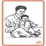 Disegni da colorare Temi - Festa del papà 2