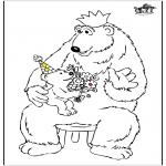 Disegni da colorare Temi - Festa del papà - orso