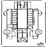 Lavori manuali - Figurina da ritagliare Autobus