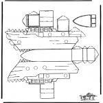 Lavori manuali - Figurina da ritagliare barca